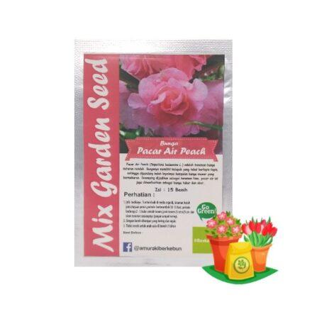benih bunga pacar air peach mgs
