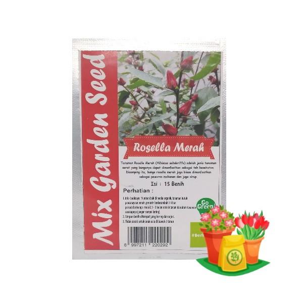 benih bunga rosella merah mgs