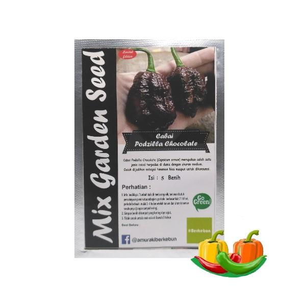 benih cabe podzilla chocolate mgs