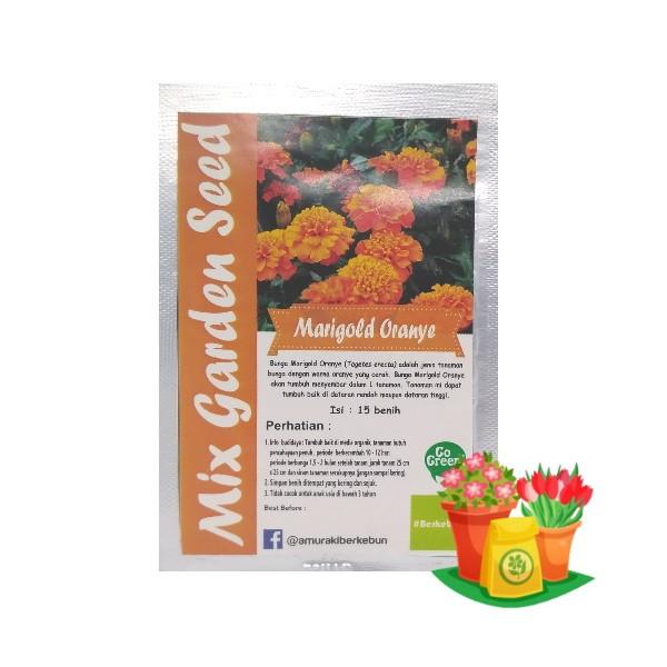 bunga marigold orange mgs