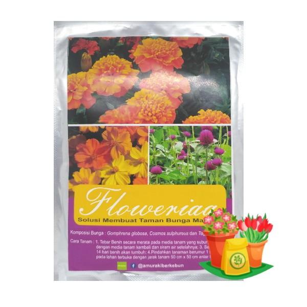 paket benih bunga marigold